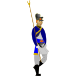 Man in Napoleonic costume vector graphics
