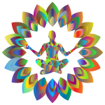 Prismatic Abstract Blossom Yoga Pose