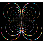 Prismatic Abstract Circles Butterfly 2