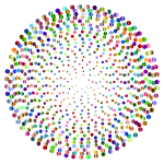 Prismatic Abstract Circles Design 5