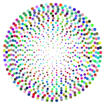 Prismatic Abstract Circles Design