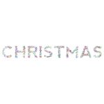 Prismatic Abstract Floral Christmas Typography