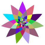 Prismatic Abstract Flower Line Art