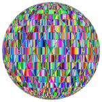 Prismatic Abstract Geometric Sphere Enhanced