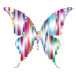 Prismatic Abstract Modern Art Butterfly 3