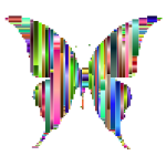 Prismatic Abstract Modern Art Butterfly 7
