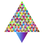 Prismatic Abstract Triangular Christmas Tree 4