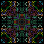 Prismatic Abstract Tribal Style Design