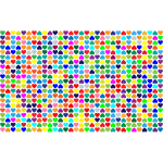 Prismatic Alternating Hearts Pattern Background 2