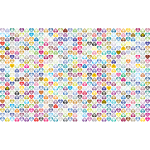 Prismatic Alternating Hearts Pattern Background 4 No Black Background