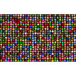 Prismatic Alternating Hearts Pattern Background 6