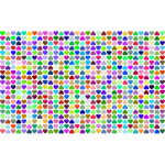 Prismatic Alternating Hearts Pattern Background