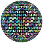 Prismatic Alternating Hearts Sphere 3