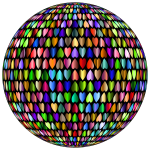 Prismatic Alternating Hearts Sphere 4
