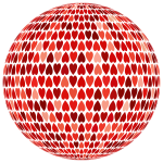 Prismatic Alternating Hearts Sphere 5 No Background