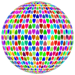 Prismatic Alternating Hearts Sphere