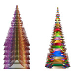 Prismatic Christmas Trees