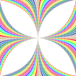 Prismatic Circles Maltese Cross
