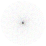 Prismatic Circular Dashed Spiral