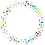 Prismatic Clover Diamonds Circle