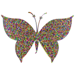 Prismatic Colorful Tiled Butterfly 4