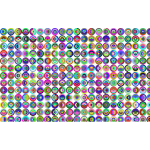Prismatic Concentric Checkered Circles Pattern
