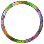Prismatic Decorative Ornamental Round Frame 4