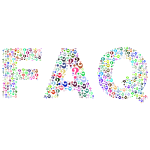 Prismatic FAQ Word Cloud No Background