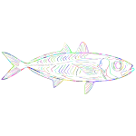 Prismatic Fish Line Art