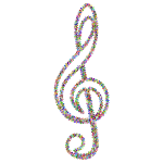 Prismatic Floral Clef Outline 2
