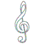 Prismatic Floral Clef Outline