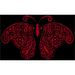 Prismatic Floral Flourish Butterfly Silhouette 6