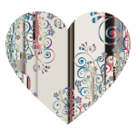 Prismatic Floral Flourish Heart 11