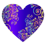 Prismatic Floral Flourish Heart 15