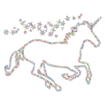 Prismatic Floral Magical Unicorn Outline 2