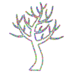 Prismatic Floral Simple Tree
