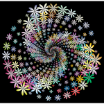 Prismatic Floral Vortex 2 With Background