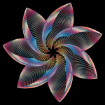 Prismatic Flower Line Art 3
