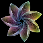 Prismatic Flower Line Art 7