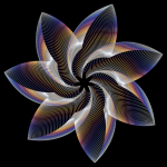 Prismatic Flower Line Art 9