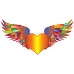 Prismatic Flying Heart