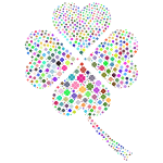 Prismatic Four Leaf Clover Fractal No Background