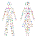 Prismatic Gender Equality Male And Female Figures 3 No Background