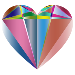 Prismatic Geometric Heart