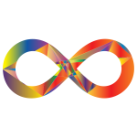 Prismatic Geometric Infinity Sign
