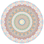 Prismatic Geometric Mandala 2 No Background