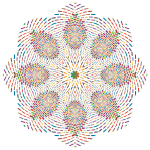 Prismatic Geometric Mandala No Background