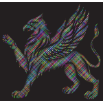 Griffin with prismatic pattern