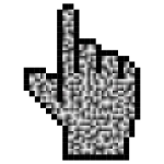 Prismatic Hand Cursor Pointer Grid 6