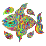Prismatic Hand Drawn Fish